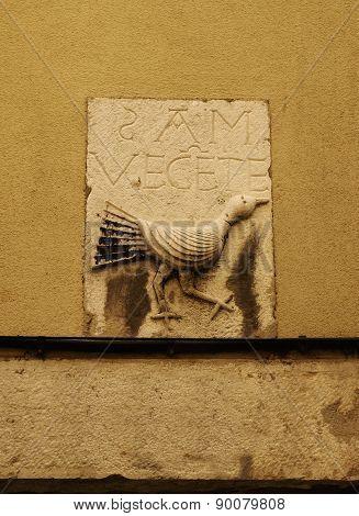 Ancient Raven And Saint Vincent Inscription In Lisbon
