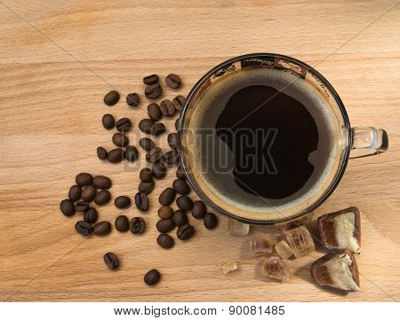 Black Coffee On The Table