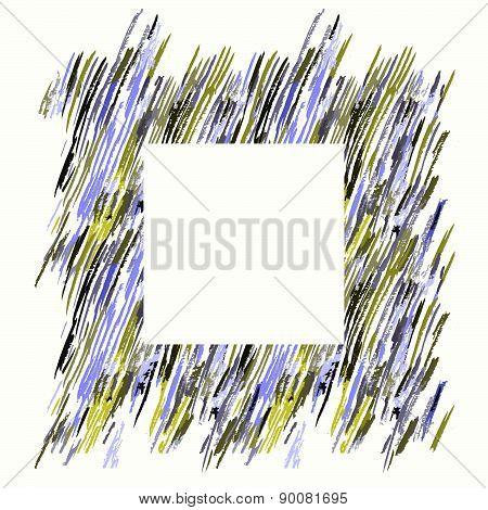 Hand Drawn Brush Pen Hand Drawn Doodle Pattern. Vector Background Grunge Texture