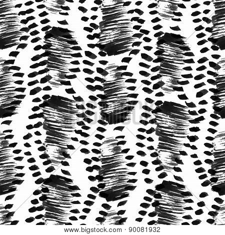 Seamless Vector Pattern, Hand Drawn Brush Textured Image Inspired By The Natural Vegetation Camoufla