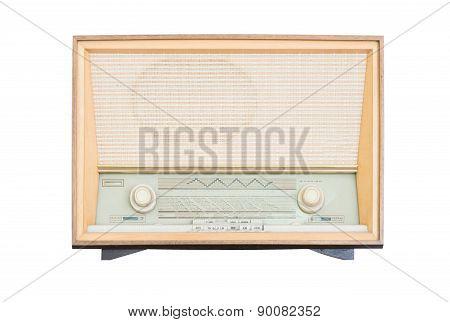 Old Radio Receiver Of The Last Century Isolate