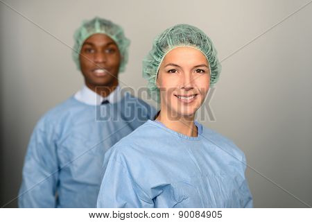 Confident Medical Professionals In Hospital
