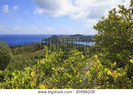 Beautiful view of the Indian Ocean from mountains Zimbvabve.