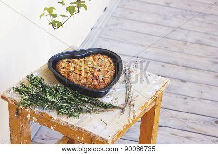 Apple Pie heart shaped