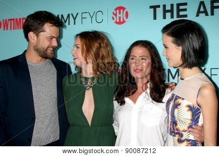 "LOS ANGELES - MAY 5:  Joshua Jackson, Ruth Wilson, Maura Tierney, Julia Goldani Telles at the Showtime's ""The Affair"" Screening Event at the Samuel Goldwyn Theater on May 5, 2015 in Beverly Hills, CA"