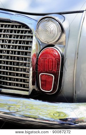 Detail Of Rear Light Of A Gray Renault Dauphine Gordini