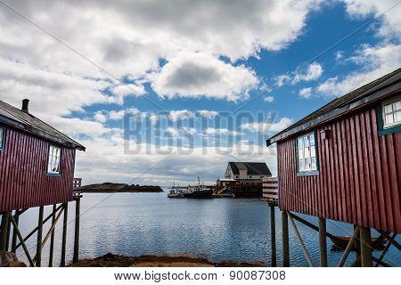 Daytime in A village, Lofoten Islands, Norway