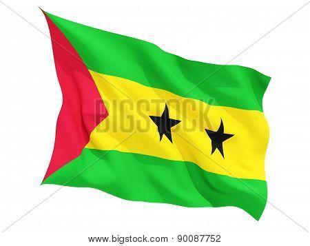 Waving Flag Of Sao Tome And Principe