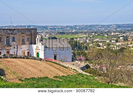 Panoramic view of Martina Franca. Puglia. Italy.