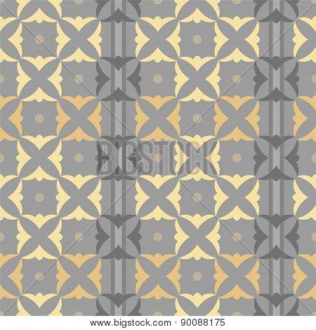 Pattern Squares Shamrocks, Go...