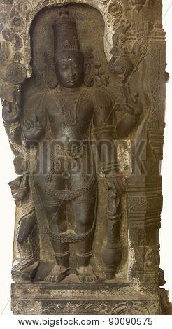 Lord Rama Carved In Pillar.