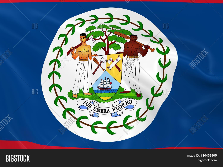 waving flag belize image photo free trial bigstock