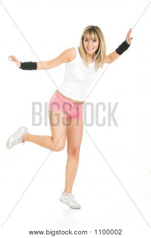 Beautiful Woman Balancing Pose