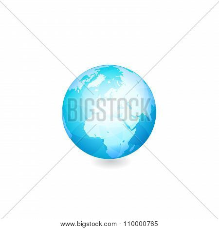 Globe vector illustration.