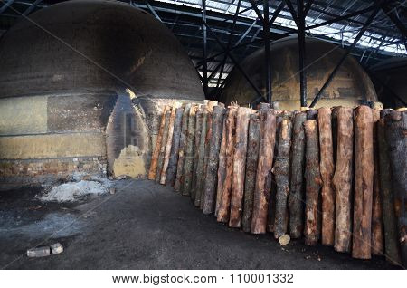 Traditional Charcoal Factory Sepetang