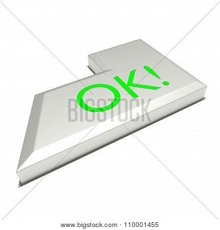 Enter key button, OK sign