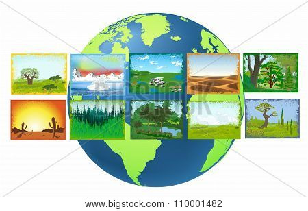 landscapes of the Earth,