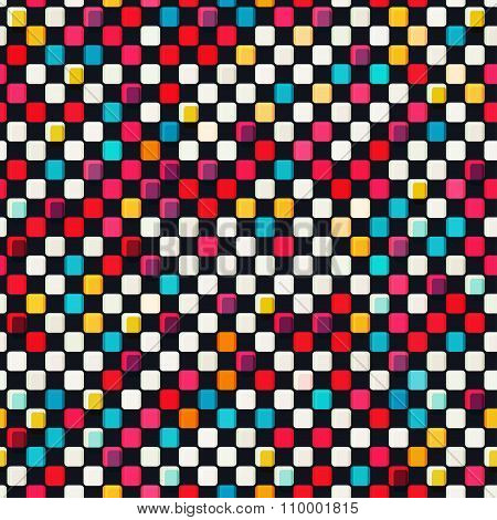 Colored Tiles Seamless Pattern