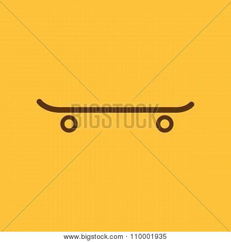 The skateboard icon. Sport symbol. Flat