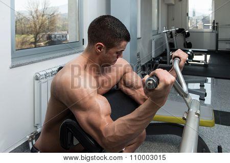 Biceps Workout On Machine