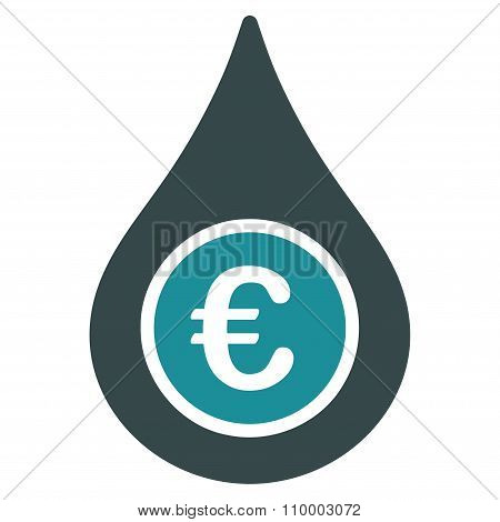 Euro Liquid Drop Icon