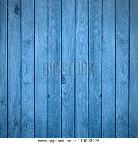 Blue Wooden Rustic Backgroun