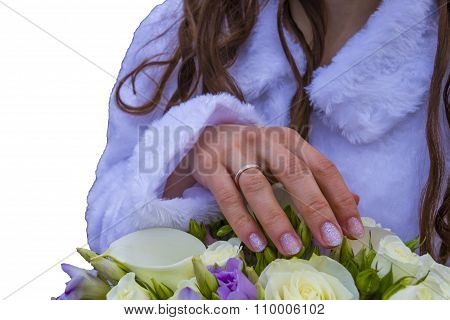 Bridal Bouquet With Ring