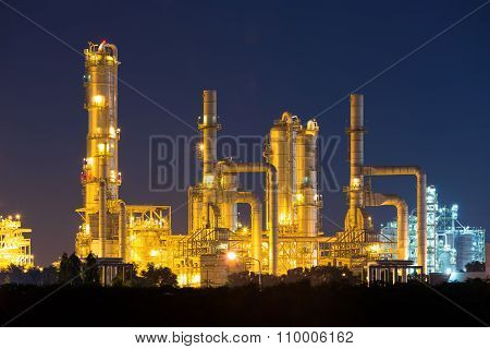 Oil Refinery Night