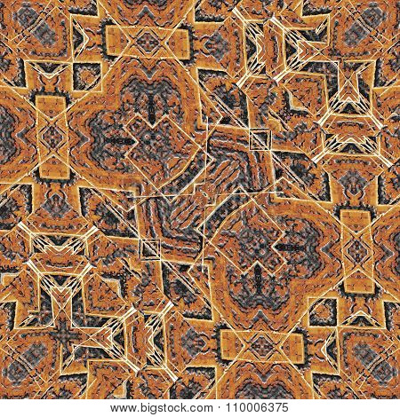 Fabric Ethnic Art Seamless Pattern