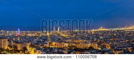 Barcelona In A Summer Night