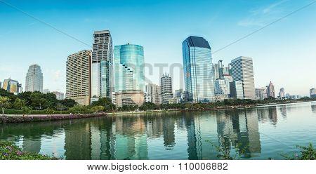 Panorama,bangkok City At Evening,thailand