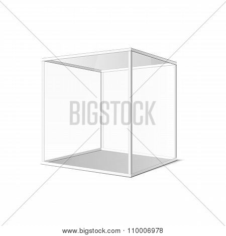 Abstract Transparent Box On Grey Background. Eps 10.