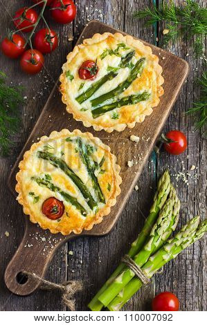 Veggie Tart With Asparagus And Cherry Tomatoes
