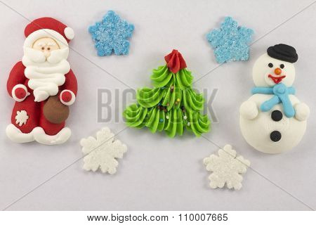 Christmas Figurines Sweet Mastic