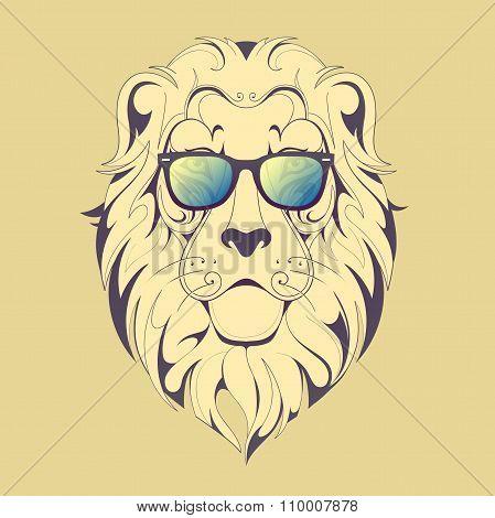 Hipster lion print