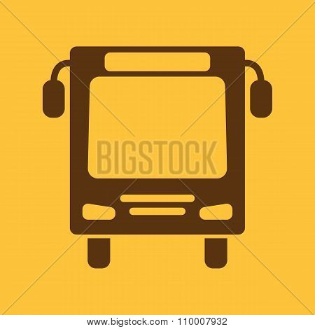The bus icon. Travel symbol. Flat