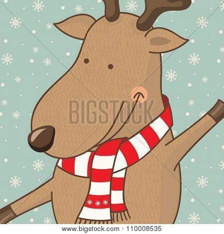 Illustration Cartoon Cute Deer.vector