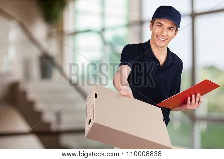 Delivering.