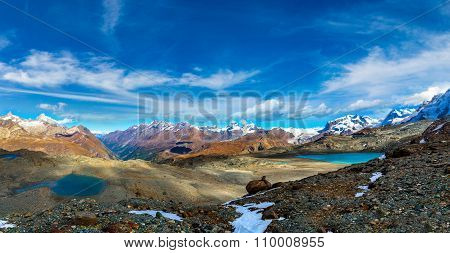 Alps Mountain Landscape In Swiss