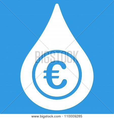 Euro Liquid Drop Icon