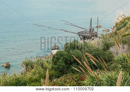 Fishing trabucco on the coast