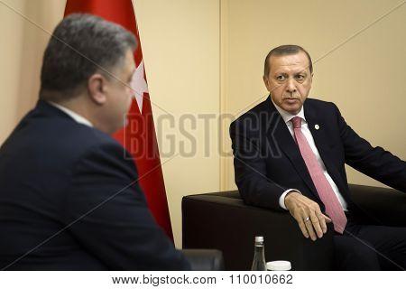 Petro Poroshenko And Recep Tayyip Erdogan