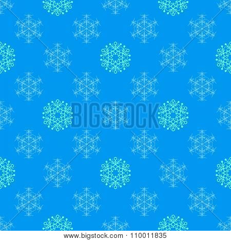 Flat Style Snowflakes Seamless Pattern.