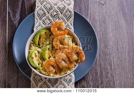 Fried Shrimp On Skewers