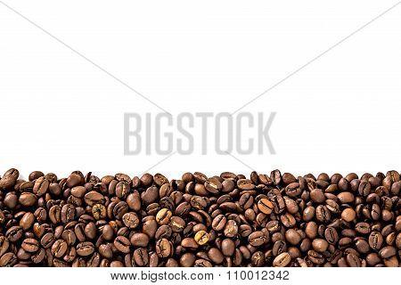 Black coffee beans frame border