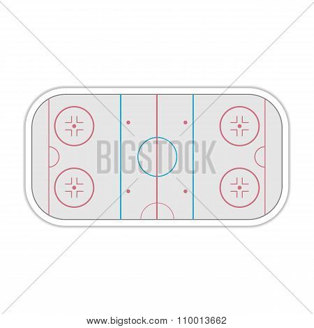 Field Ice Hockey, Vector Illustration.