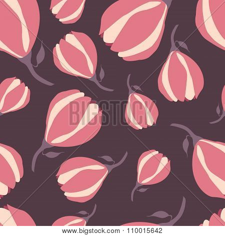 Beautiful magnolia seamless pattern