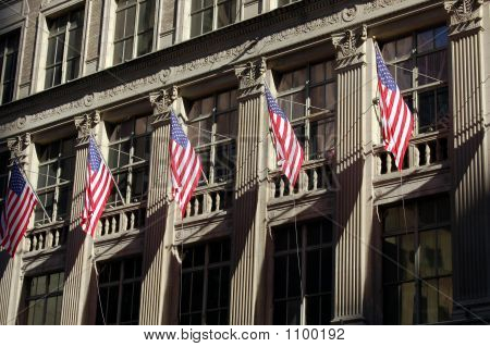 Group Of Us Flags