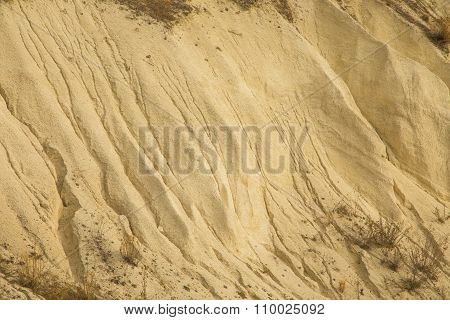 Sand hill closeup