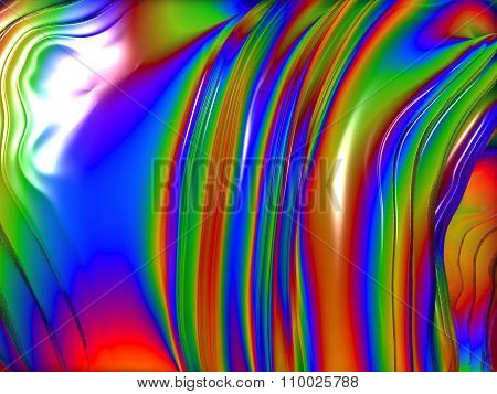 3D Glossy Psychedelic Melting Colors
